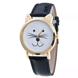 Cat Watch with Black Band